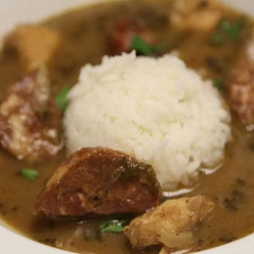 Chicken & Anduouille Sausage Gumbo